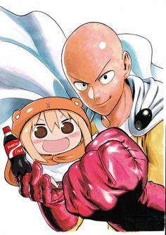 OMG Umaru-chan & Saitama ♥ :D - Himouto! Umaru-chan X One Punch Man