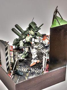 MG 1/100 Zaku II Vs. Gundam Gound Type 'REVENGE THE ORIGINAL' - Diorama Build Modeled by coralblue76