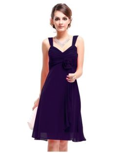 41c57e6ddd57d Shop Ever Pretty Flower Unique Ruffles Empire Waist Cocktail Bridesmaid  Party Dress Free delivery and returns on eligible orders.