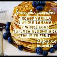 One of the healthy snacks you can use your JP shakes for! #JuicePlus #Healthy #Nutrition #Pancakes #LovingLife #fit #FormulaOneFitness