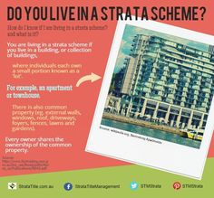 Do you live in a #strata scheme? or looking to own a strata #property soon? Learn more about what a strata scheme is. For more info, visit http://www.stratatitle.com.au