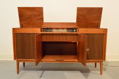 Telefunken Radio Console with Reel to Reel and by GalaxieModern // danish modern // record player // mid century