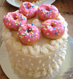 Cake Made Out of Donuts | doughnut cake1
