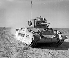 A Matilda II tank of the 7th Royal Tank Regiment in the Western Desert #WorldWar2 #Tanks