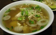 Pho Ga (Vietnamese Chicken Soup with Rice Noodles)