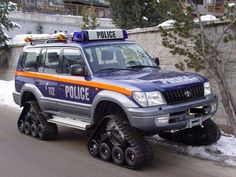 Tracks on Police car