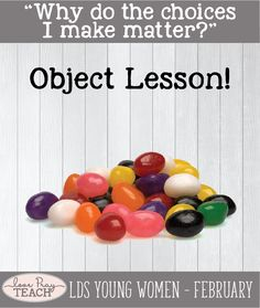 "LDS Young Women February Lesson helps for ""Why do the choices I make matter?"" Come, Follow Lesson Packet includes printables, handouts, object lesson, treat idea, worksheets, group activities, teaching ideas, and more! www.LovePrayTeach.com"