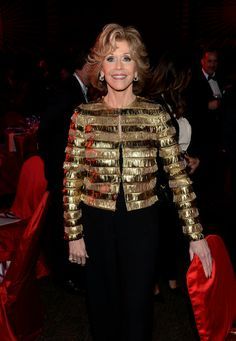 """Jane Fonda attends the 25th annual Palm Springs International Film Festival January 2013.  She is 76 years old, and is my """"look great at any age"""" hero!!"""