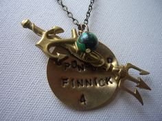 I Sponsored Finnick district 4 tribute - The Hunger Games Jewelry  necklace - hand stamped on Etsy, $23.99