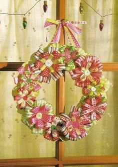 Wreath made of ribbon by Ada123