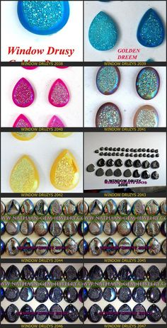Nautal Titanium Coated Window Druzy Agate Cabochan Drusy gemstones Available at Direct wholesale Factory prices 9 from nathaan-gem-jewelry