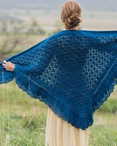 Knitting Pattern for Squall Line Shawl