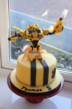 Bumblebee transformer cake Cake by Ballderdash Transformer Birthday, Transformer Cake, Transformers, 4th Birthday Cakes, Boy Birthday, Birthday Ideas, Cakes For Boys, Boy Cakes, Party Cakes