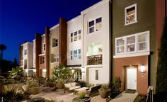 Mosaic-walk-exterior Townhouse landscaping in SoCal