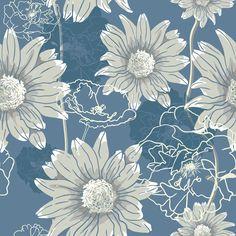 Papel de Parede Floral 1867