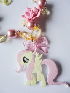 My Little Pony Fluttershy Pear Pink Flower Cute by XKawaiiCutieX, £14.00