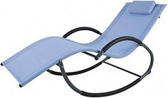 Buy Ukeacn Aluminum Patio Lawn Chaise Lounge Rocking Chair - G-Shape Zero Gravity Design Ergonomic Portable Folding Chaise Headrest, Suit Outdoor & Indoor, Blue online - Topfurnitureshop Black Dining Chairs, Dining Room Table Chairs, Wicker Chairs, Outdoor Chairs, Indoor Outdoor, Garden Furniture Sets, Porch Furniture, Blue Furniture, Outdoor Garden Furniture