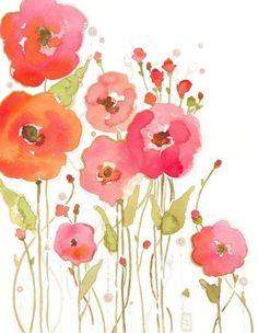 flowers aquarell - Szukaj w Google