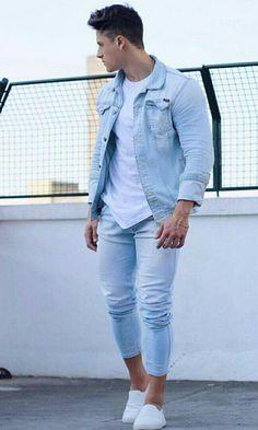 Camisa jeans. Último grito da moda masculina. Calça crooped. Linda e excelente para quem tem estilo e elegância.