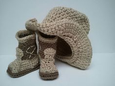Cowboy Boots and Cowboy Hat Cowboy baby shower Brown by Dremnstar, $30.50