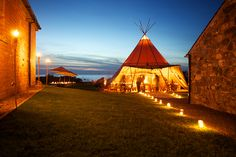 They allow space for up to 20 kids to camp. This teepee was set up for a wedding held on the property.