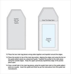 Fabric Luggage Tags Pattern  Pattern Which You Can Download Here