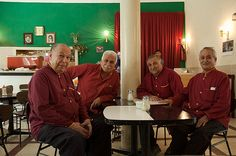Naderi Cafe' waiters. They are part of the history of this cultural place.