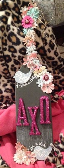 The paddle my little Taylor made for me! It ended up on sorority sugar!!