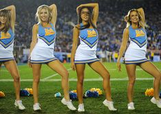 Just another reason to be happy college football Saturdays are here College Cheerleading, Cheerleading Pictures, Cheerleading Outfits, Gymnastics Pictures, Ucla Bruins Football, College Football, Basketball Cheers, Girls Basketball, Girls Softball