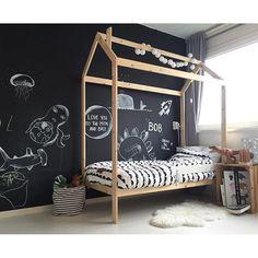 Bed Excl. Uitvalrekje (Ikea) mag weg voor 170€! #tekoop #marktplaats #koopjeshoek #huisbed #peuterbed #toddler #kidsroom #verkoopbed #delenislief