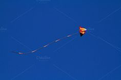 Kite Flying Tail Down by Silken Photography on Creative Market