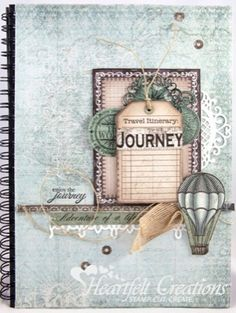 Heartfelt Creations | Travel Journal Papers, stamps and dies for this and many other Heartfelt Creations cards are available at www.creativeinspirations.ca