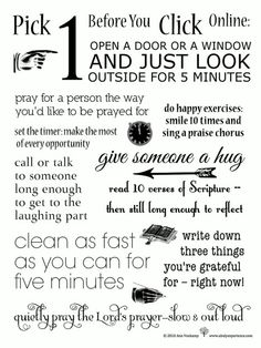 There are many forms of exercise! This is a spiritual exercise!!! Im going to start doing this!