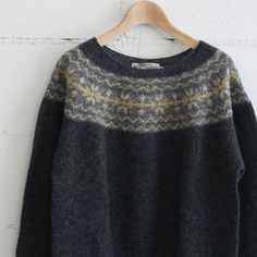 NOR' EASTERLY L/S WIDE NECK NORDIC color:OXFORD