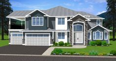 Family Comfort: This beautiful home is designed with family comfort in mind, ample room for relaxing, entertaining, or finding a private place to get away. The games room on the main floor can be easily converted to an in-law suite. House Plan No.195170