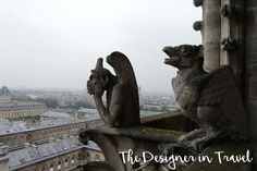 Two gargoyles surevey the Paris cityscape from their perch atop Notre Dame Cathedral. Visit Versailles, Old Train Station, Gothic Cathedral, Tour Eiffel, Disneyland Paris, Pilgrimage, See Picture, Photo Manipulation, Amazing Nature