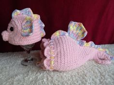 crochet photo prop 'Seahorse' hat and cocoon by momscrochetcorner, $40.00