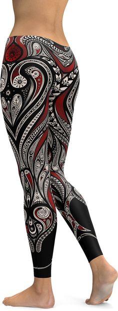 Ornament Pattern Leggings/Yoga pants - GearBunch Leggings / Yoga Pants