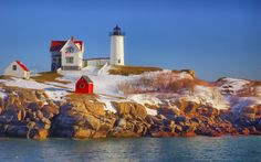 The Nubble Lighthouse in York, Maine | 34 Places That Are Even Better During The Winter / Webster NY made the cut