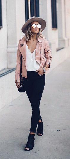 pink + black street