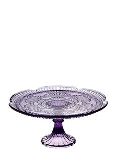 Vintage Inspired colored glass cake stand