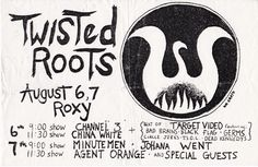 VTG Twisted Roots Minute Men Agent Orange Multi Show Flyer 8.5x5.5 kbd punkrock