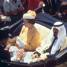 File photo dated 16/06/88 of the Crown Prince of Saudi Arabia with Queen Elizabeth II in the traditional carriage procession along the course at Royal Ascot. PRESS ASSOCIATION Photo. Issue date: Sunday September 6, 2015. Queen Elizabeth II has been monarch for more than 63 years and is set to become Britain's longest reigning monarch on September 9. See PA story ROYAL Reign Photos. Photo credit should read: PA Wire