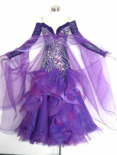 SD099 Newest Purple Ballroom Dance Dress from Reliable Ballroom Dance Dress suppliers on NANCY LEE's store