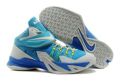 LeBron Soldier 8 Pure Platinum Teal Photo Blue Nike Zoom ee23185659