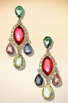 Spectacular chandelier earring #BostonProper #Holiday #Sparkle #Jewels