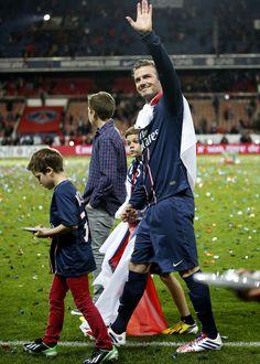David Beckham at the final match of his career