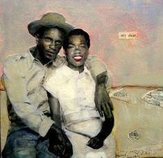 My Dear Heart  vintage romance Couple painting by MaudstarrArt