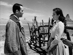 Henry Fonda and Cathy Downs in MY DARLING CLEMENTINE (1946). Directed by John Ford.