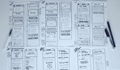 Znalezione obrazy dla zapytania paper prototyping smartphone